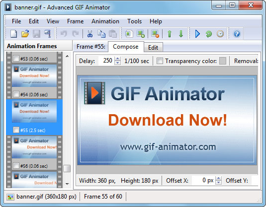GIF Animator main program window